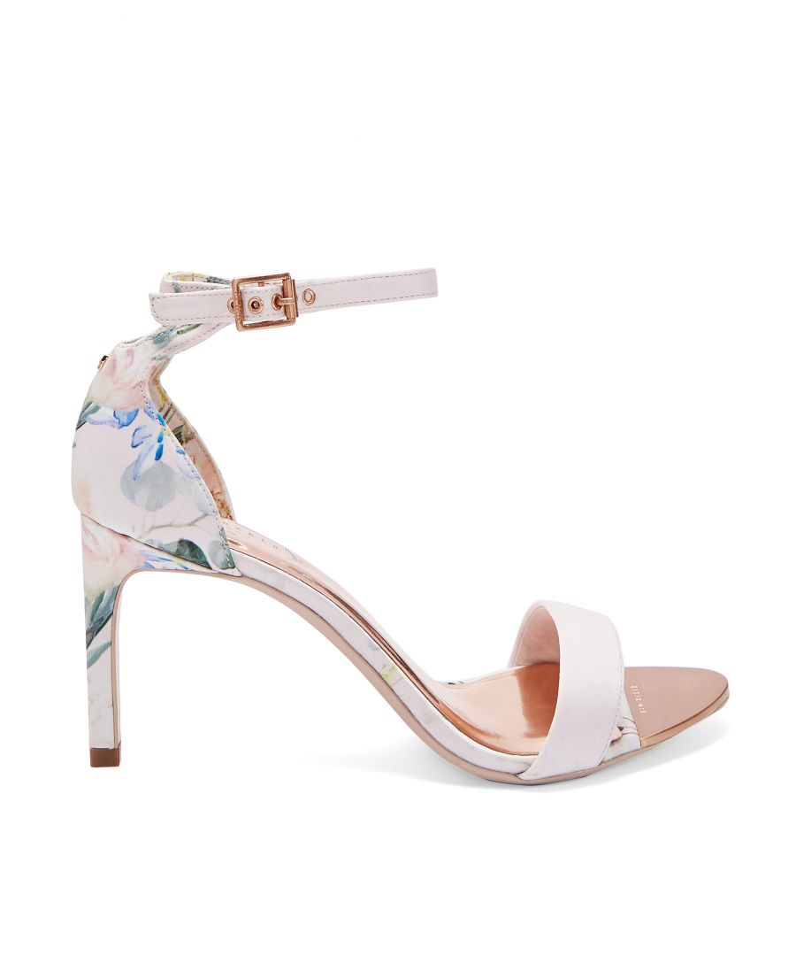 Image for Ted Baker Ulaniip Printed Straight Heel Sandals, Nude Pink