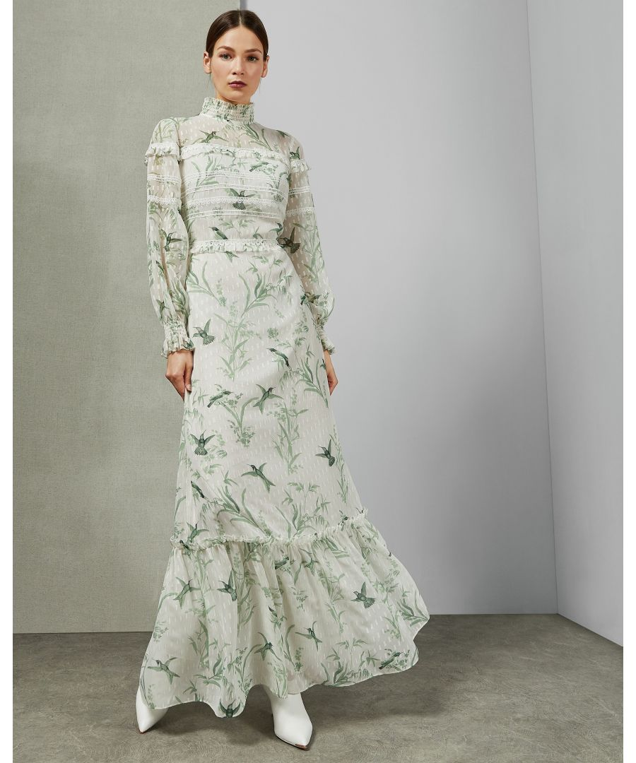 Image for Ted Baker Hhariet Fortune Lace Trim Maxi Dress, Mint