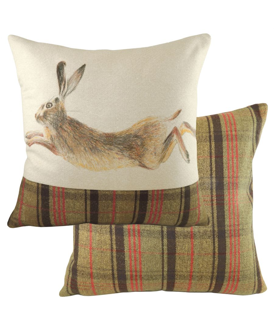 Image for Hunter Leaping Hare Cushion