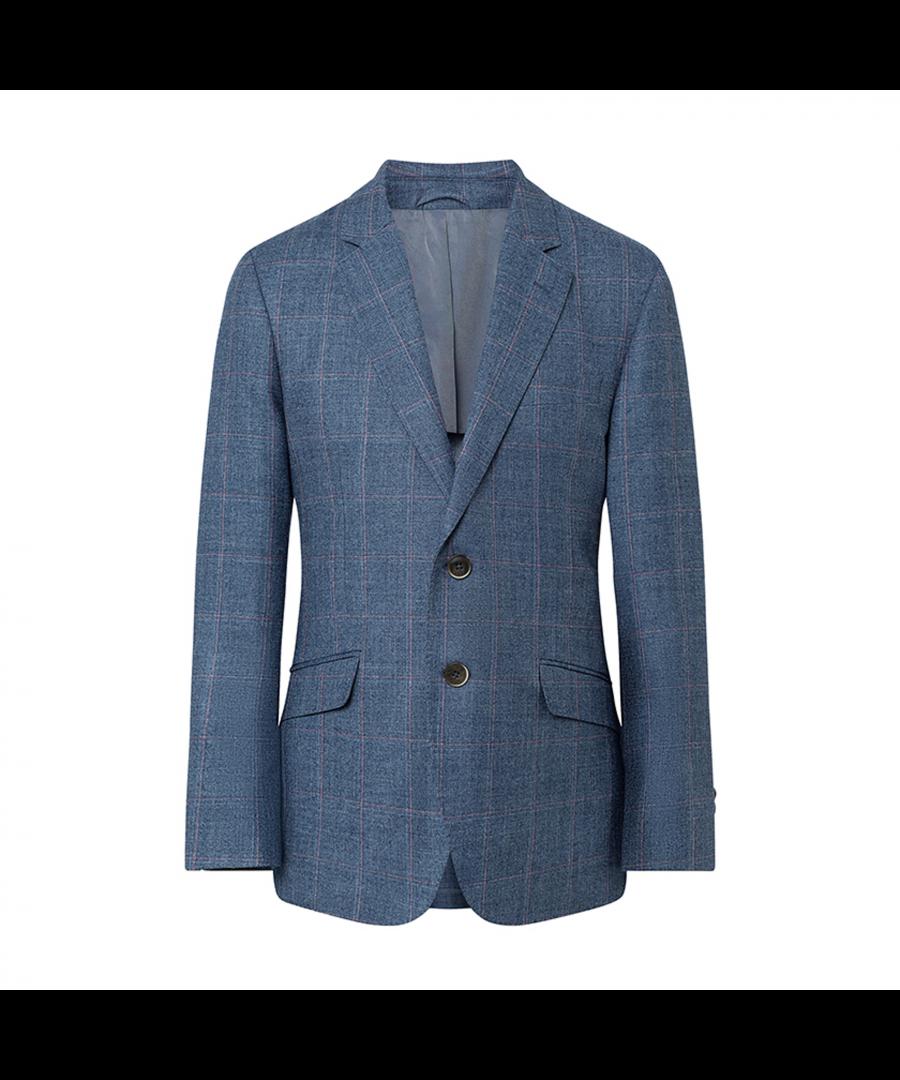 Image for Men's Hackett, Blue Windowpane Jacket