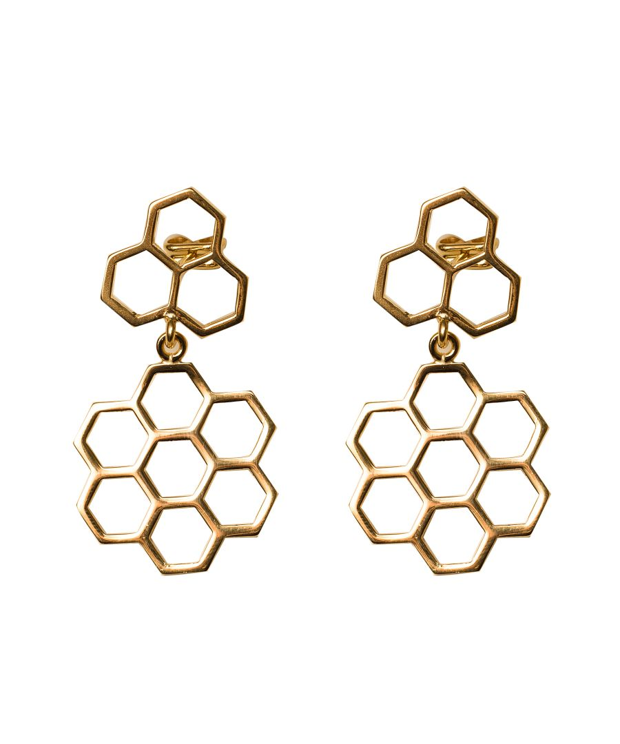 Image for Bee Happy Gold Pendant Earrings
