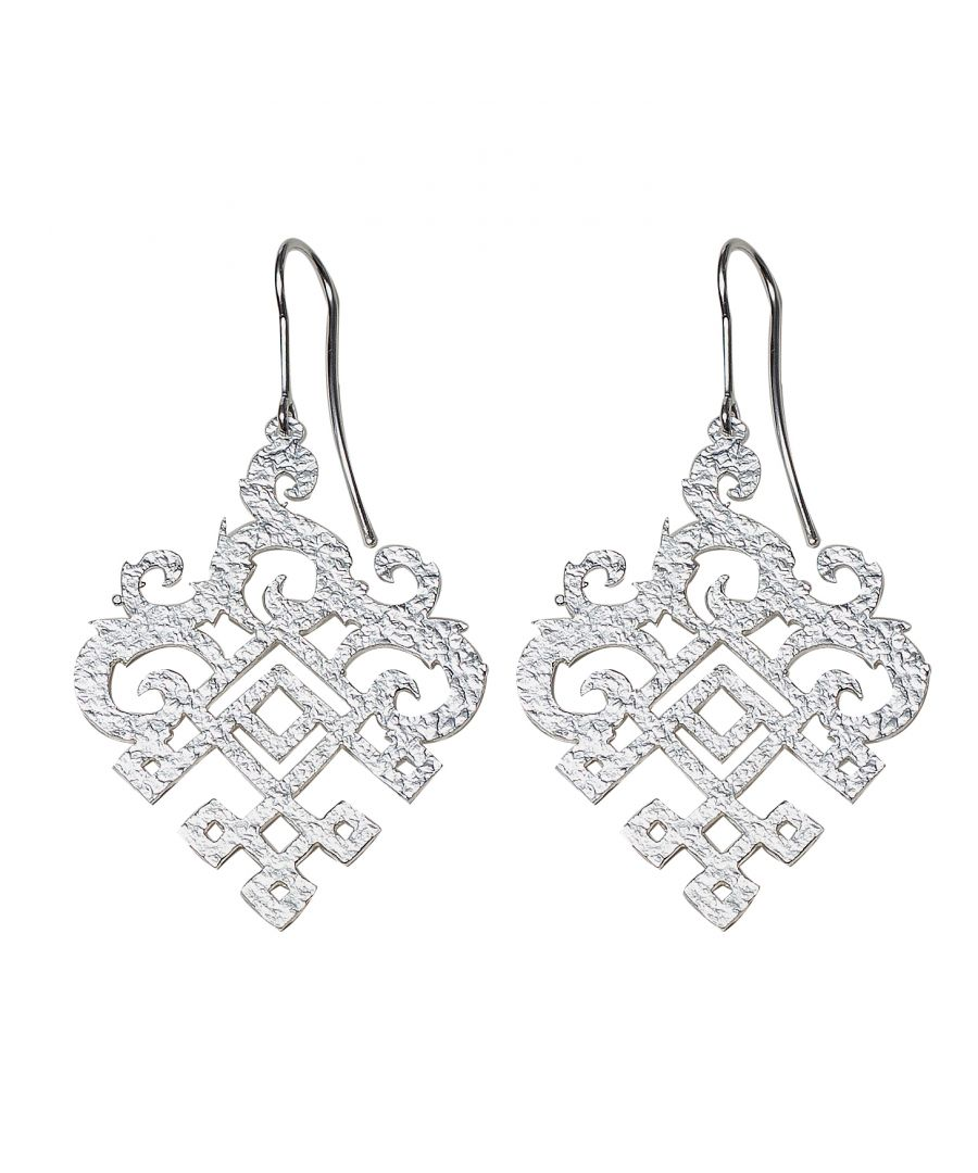 Image for Silver Filigree Drop Earrings