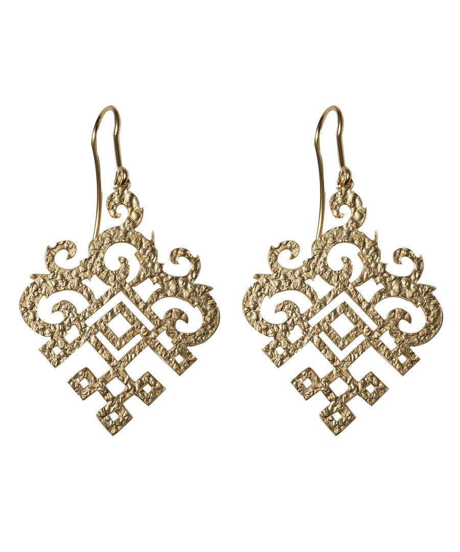 Image for Gold Filigree Drop Earrings