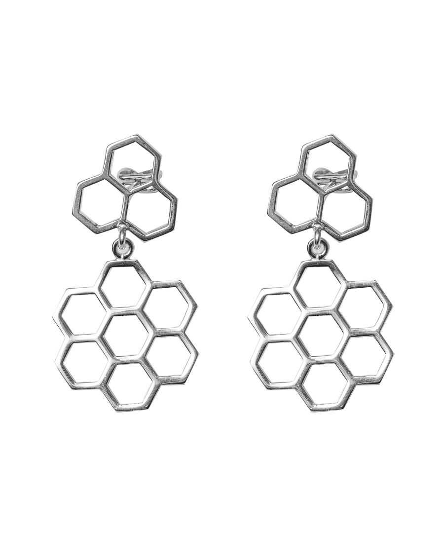 Image for Bee Happy Silver Pendant Earrings