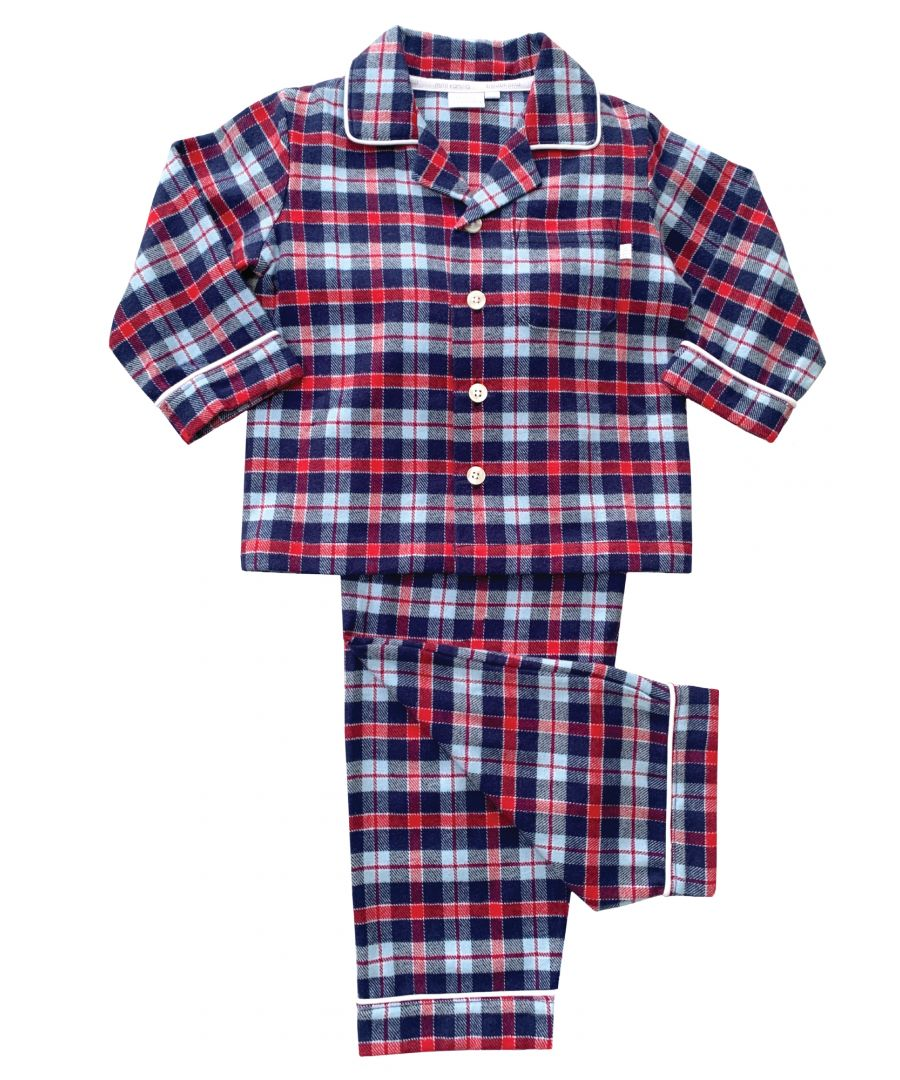 Image for Boys Traditional Check Pyjamas