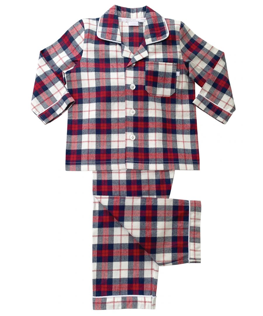 Image for Boys Burgundy Check Traditional Pyjamas