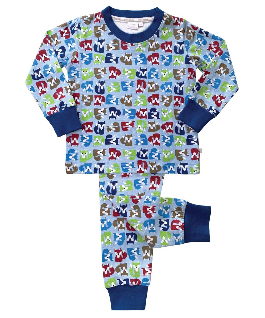 Image for Boys All Over Fox Print Skinny Fit Pyjamas
