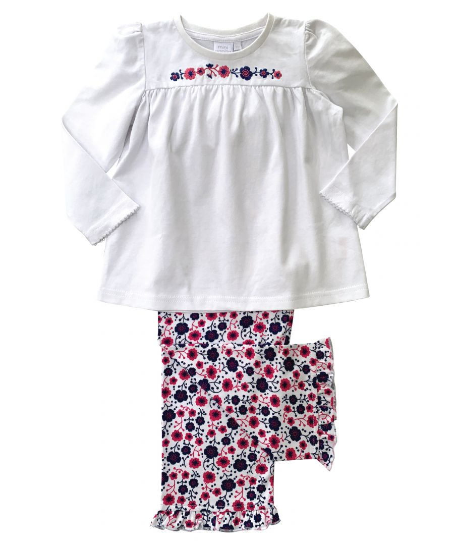 Image for Girls Jersey Floral Lounge Pyjamas