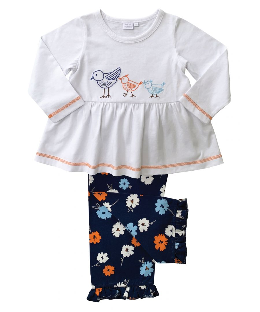 Image for Girls Cute Birds Lounge Pyjamas