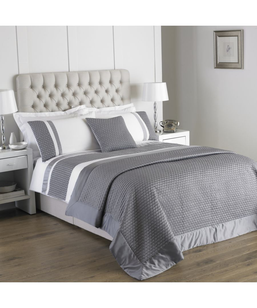 Image for Honeycomb Double Duvet Set Silver