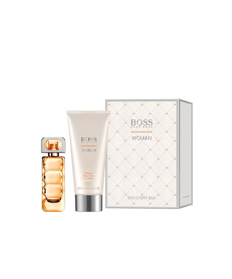 Image for Hugo Boss Orange Woman Gift Set Eau De Toilette Spray 30Ml