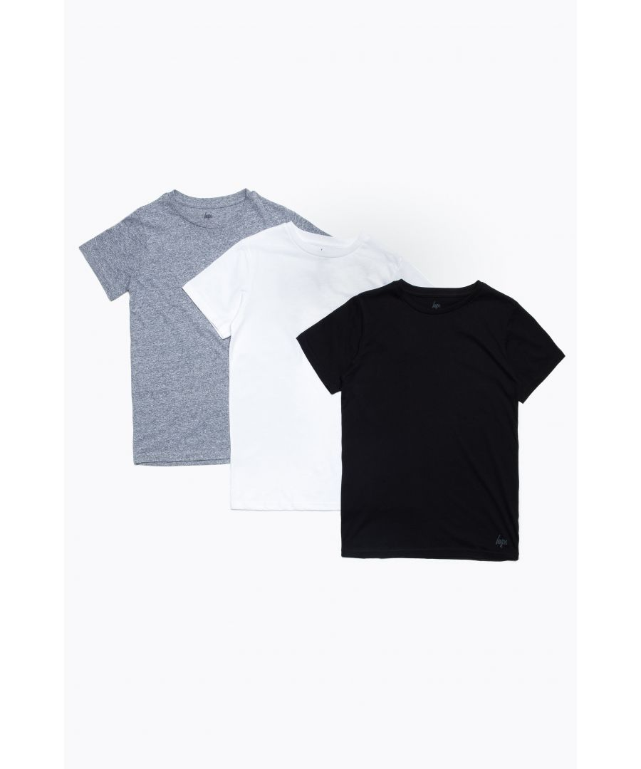 Image for Hype Monotone Three Pack Kids T-Shirt