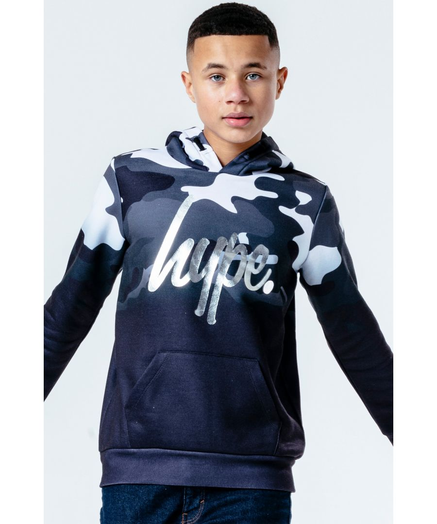 Image for Hype Monochrome Camo Fade Kids Pullover Hoodie