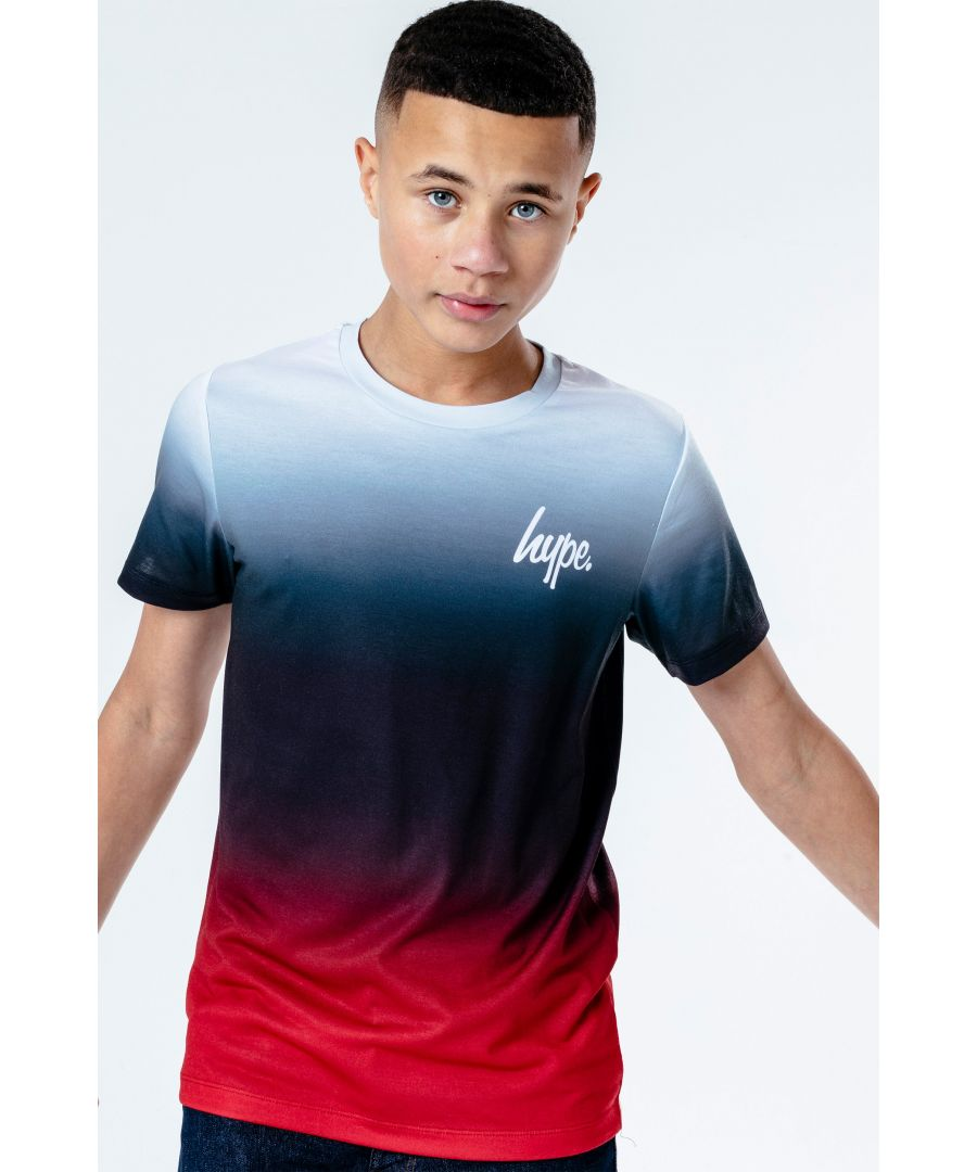 Image for Hype Red Crimson Fade Kids T-Shirt