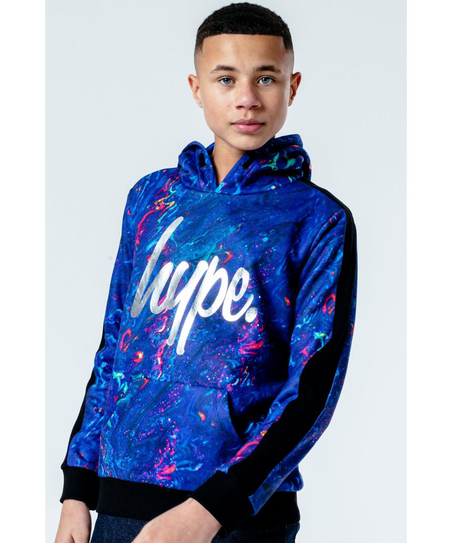 Image for Hype Blue Marble Kids Pullover Hoodie