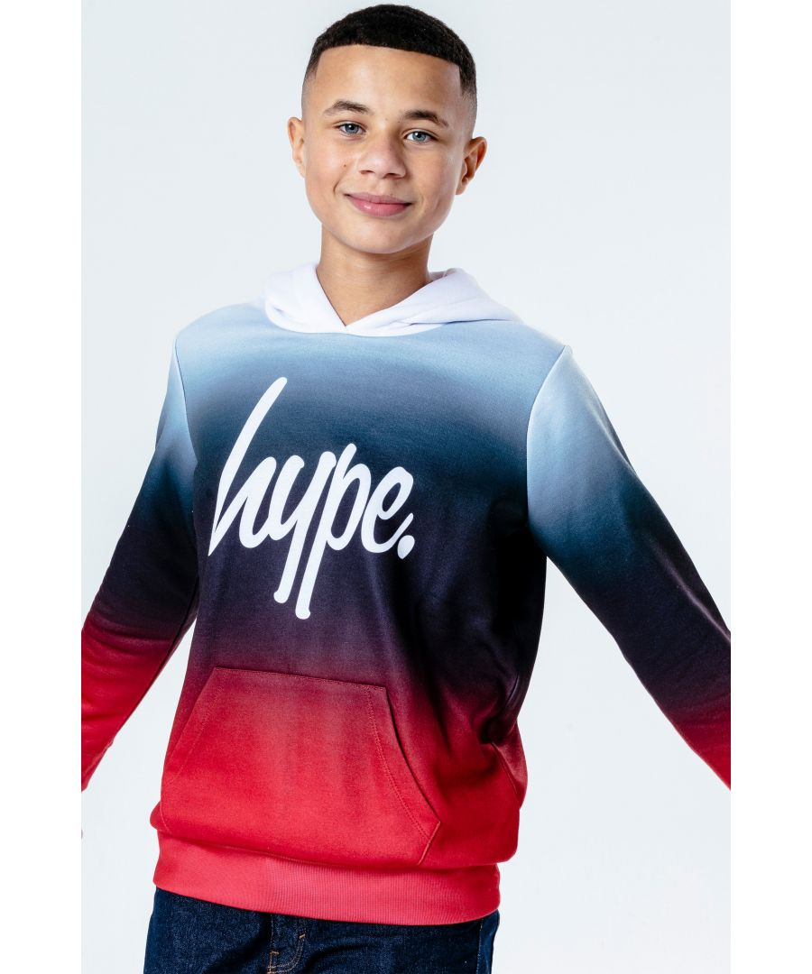 Image for Hype Red Crimson Fade Kids Pullover Hoodie