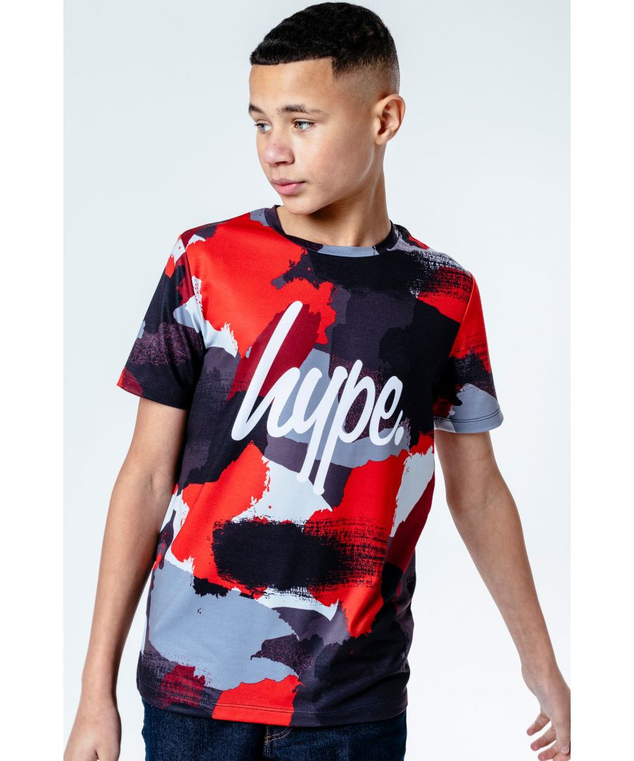 Image for Hype Red Camo Kids T-Shirt