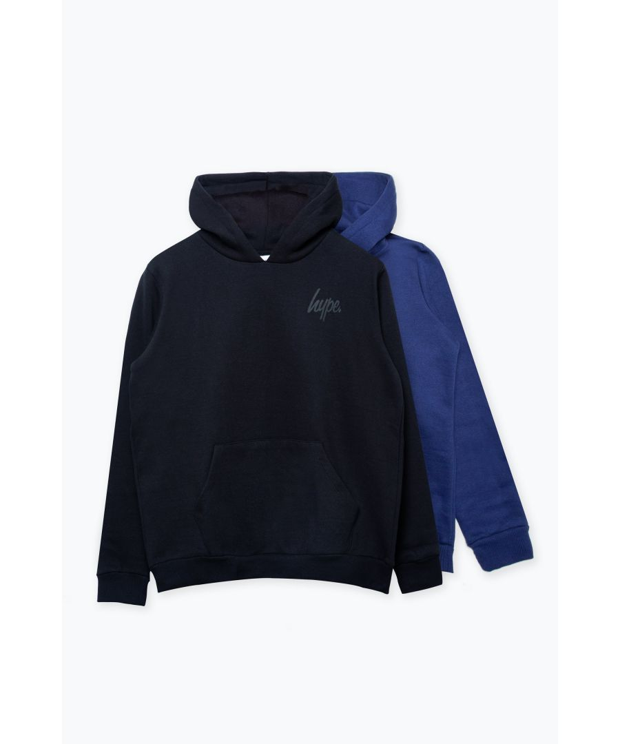 Image for Hype Two Pack Black & Navy Kids Pullover Hoodies
