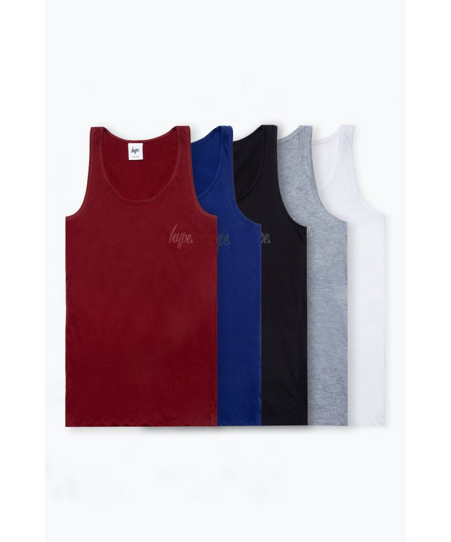 Image for Hype Five Pack Multi Colour Kids Vests