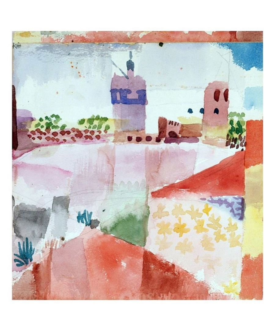 Image for Canvas Print - Hammamet With The Mosque - Paul Klee Cm. 80x85