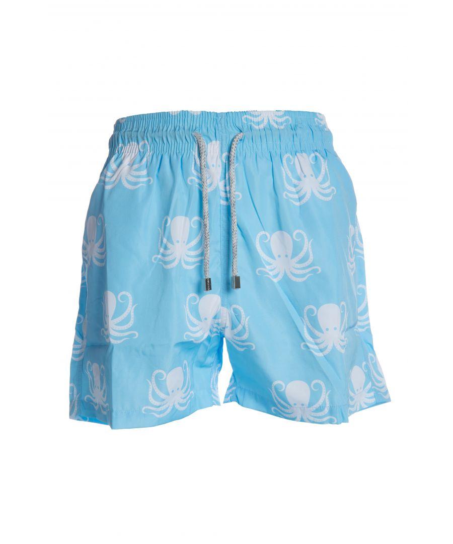 Image for Boys Blue Octopus Swim Shorts