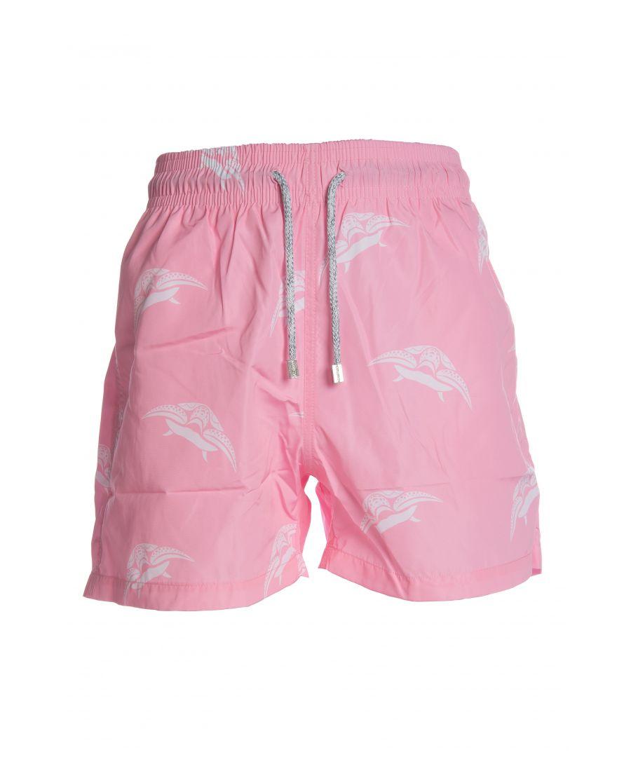 Image for Men's Pink Turtle Swim Shorts
