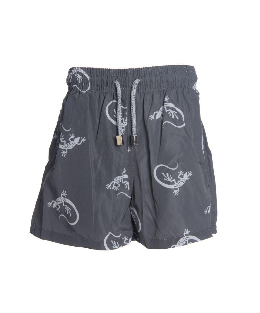 Image for Boys Grey Gecko Swim Shorts