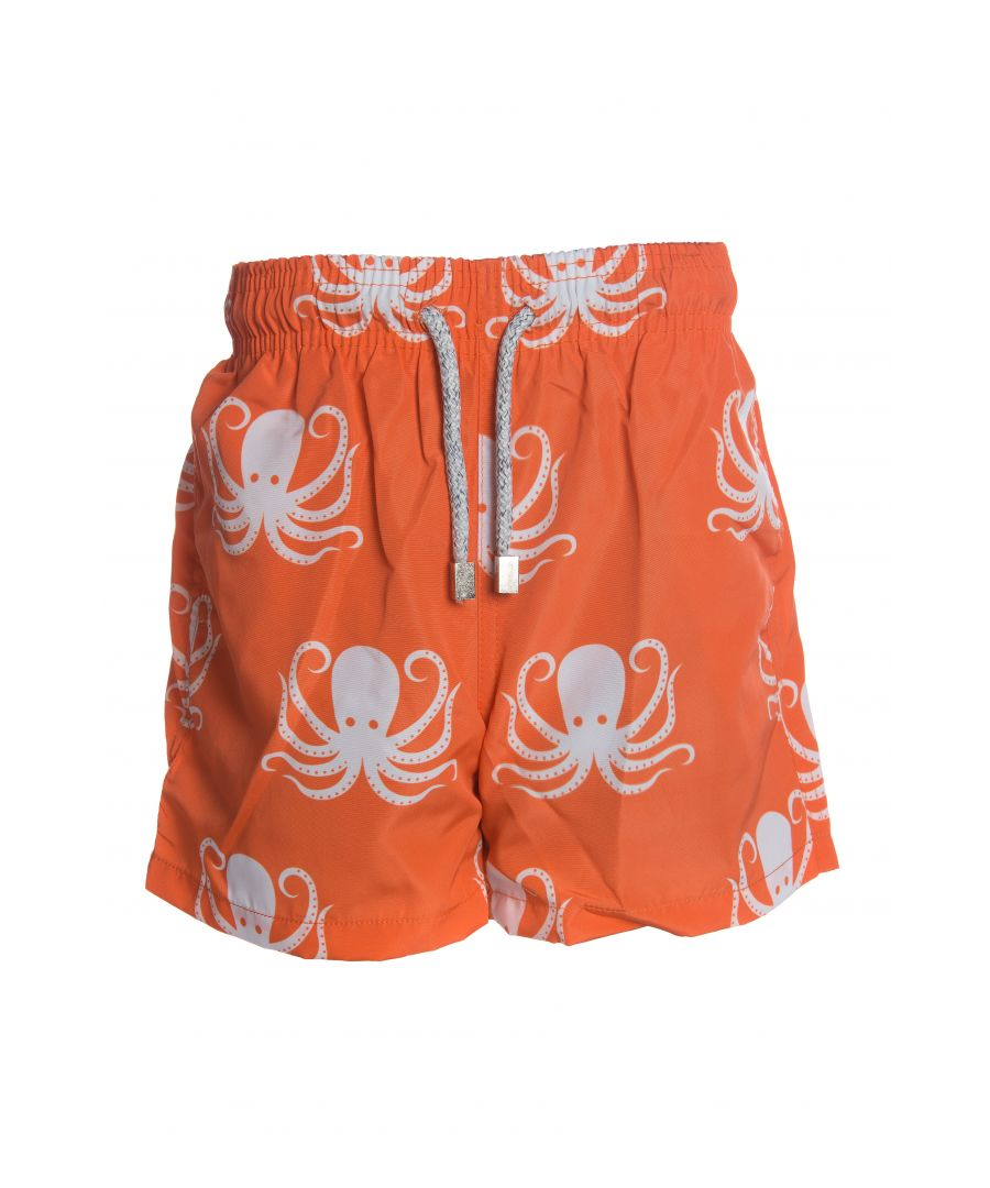 Image for Boy's Orange Octopus Swim Shorts
