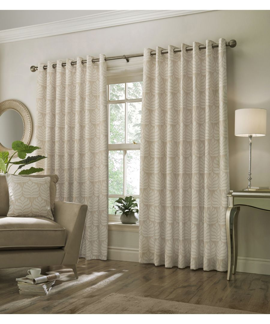 Image for Horto Botanical Eyelet Curtains in Natural