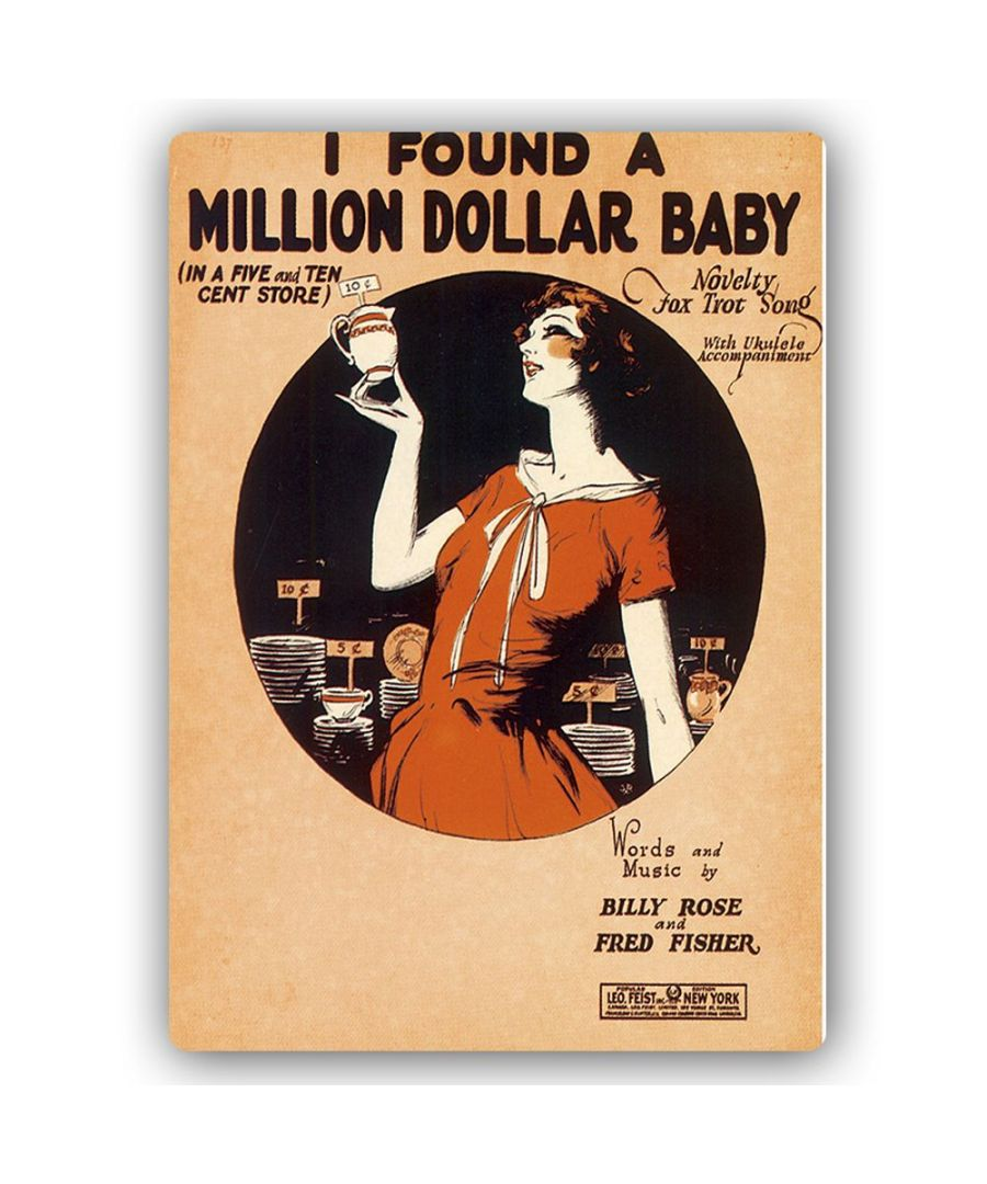Image for Vintage Music Cover - Metal Print  - I Found A Million Dollar Baby