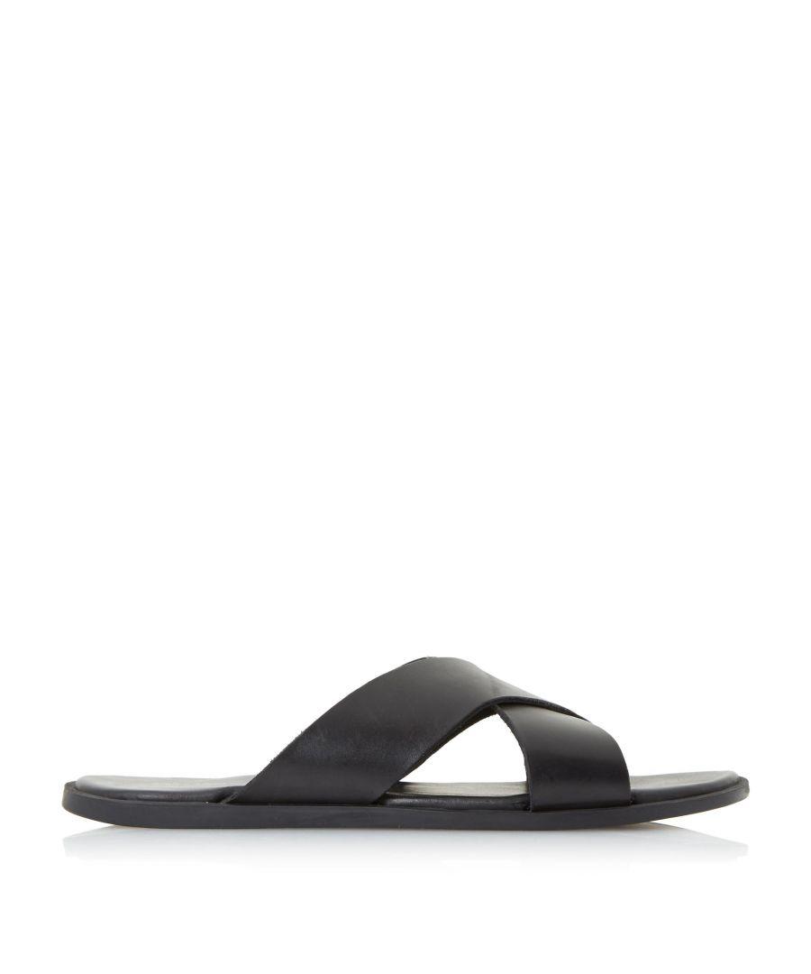 Image for Dune Mens IAGO Classic Cross Strap Sandals