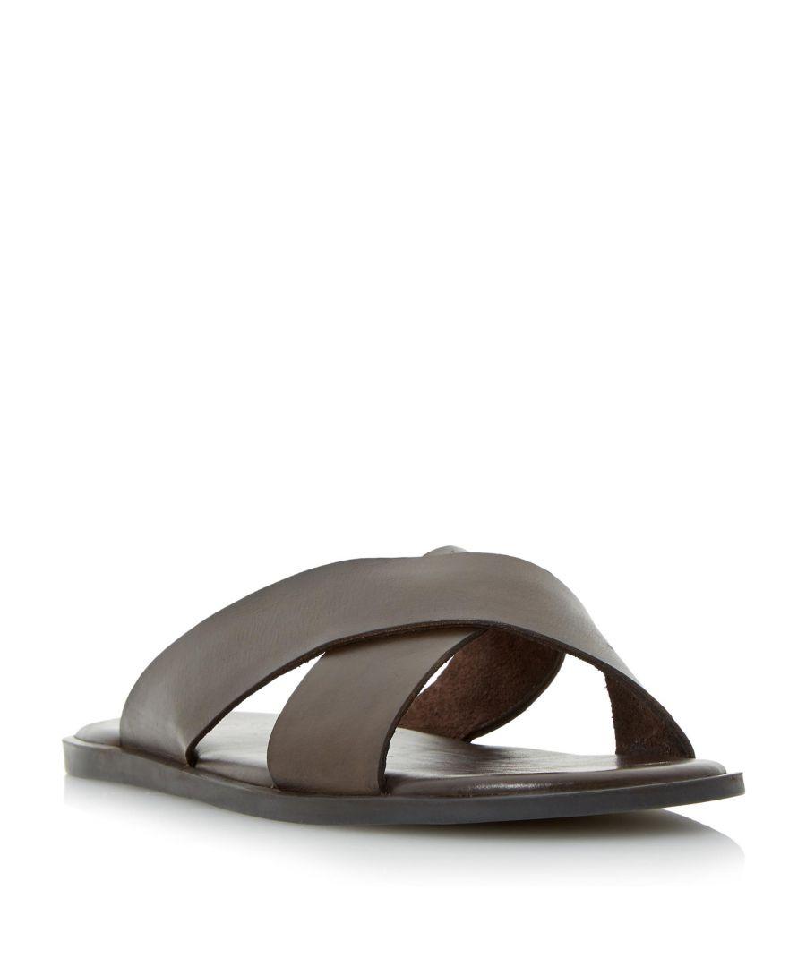 Image for Dune Mens IAGO Classic Cross Strap Sandal
