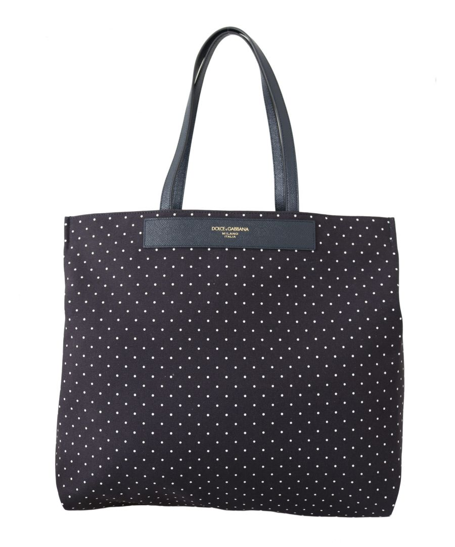 Image for Dolce & Gabbana Blue Dotted LOVE Women Hand Tote Purse