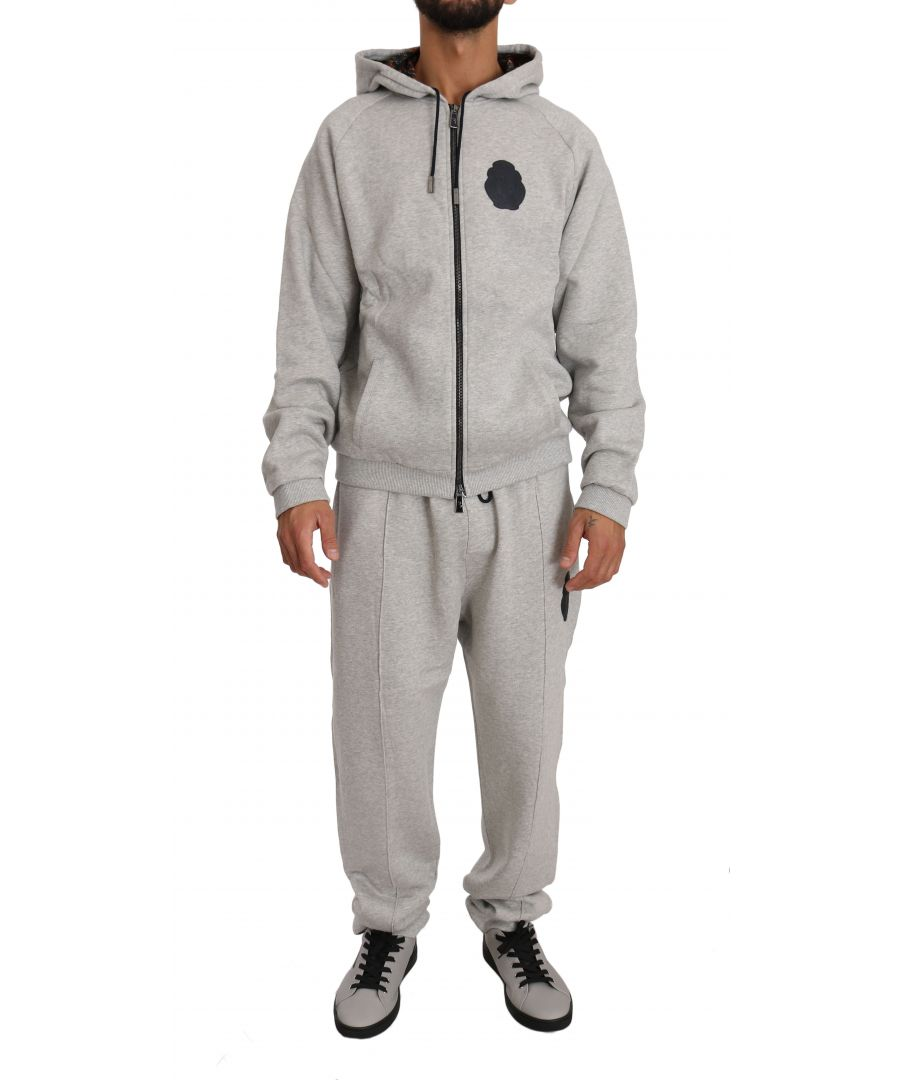 Image for Billionaire Italian Couture Gray Cotton Sweater Pants Tracksuit  Set