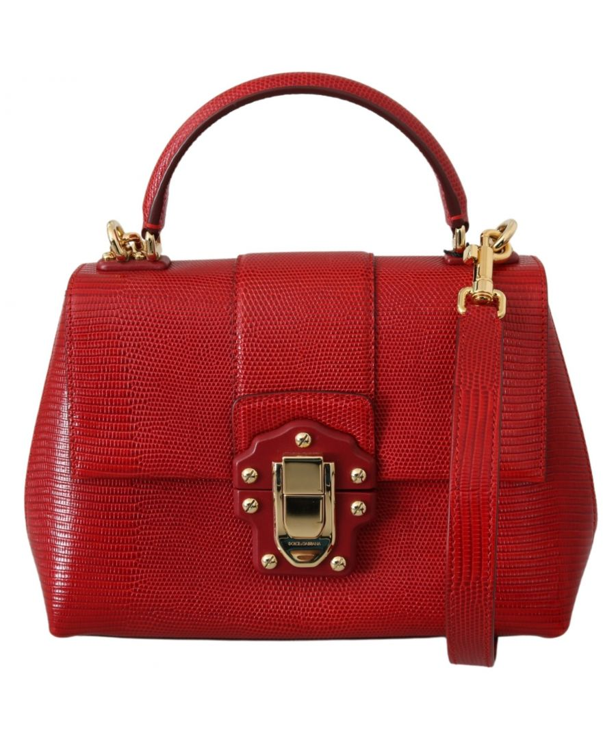 Image for Dolce & Gabbana Red 100% Leather LUCIA Hand Shoulder Purse