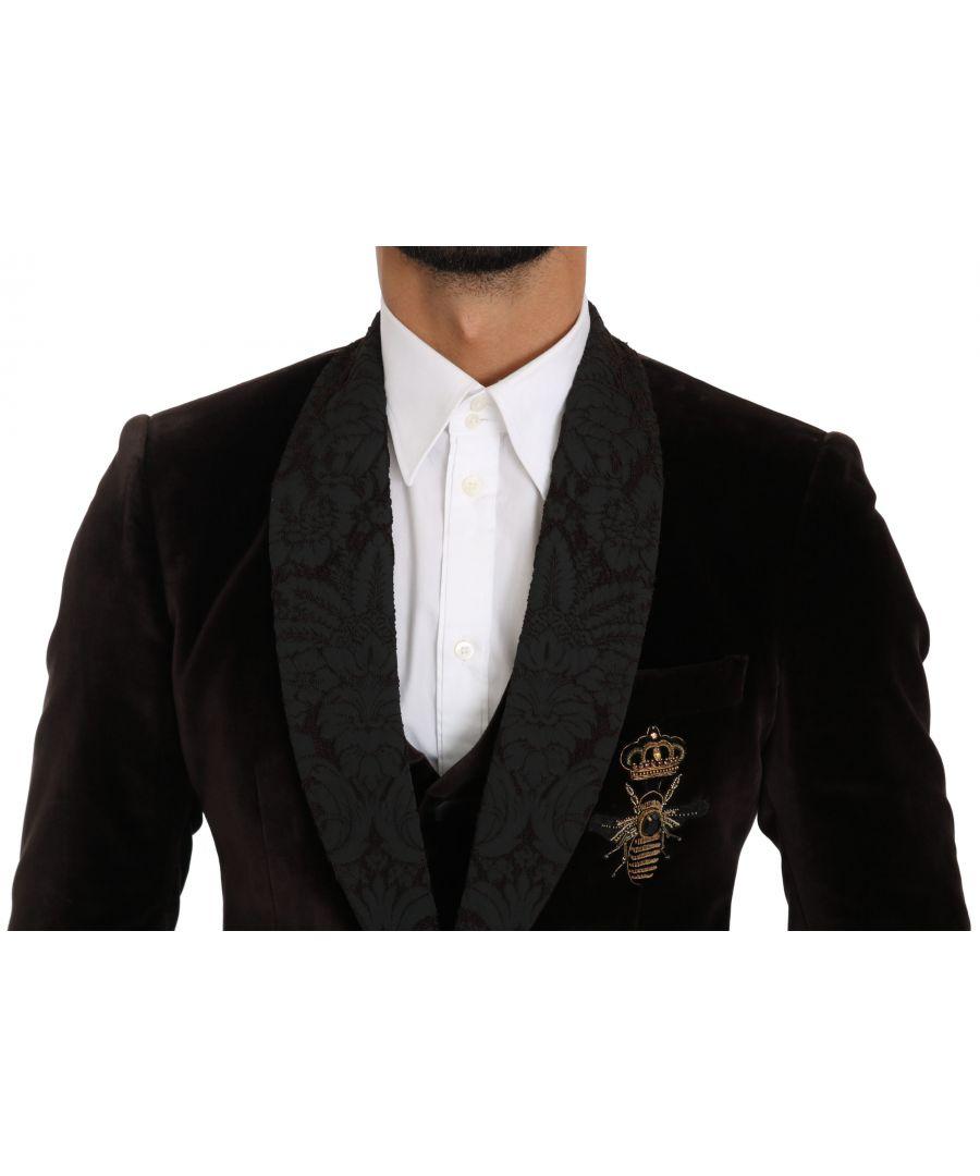 Image for Dolce & Gabbana Maroon Baroque Print Fringes Mens Scarf