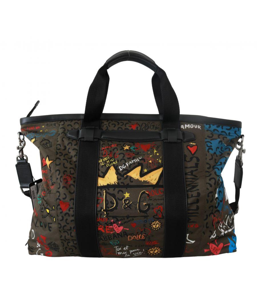 Image for Dolce & Gabbana Brown #family Love Sicily Shoulder Handbag Nylon Bag