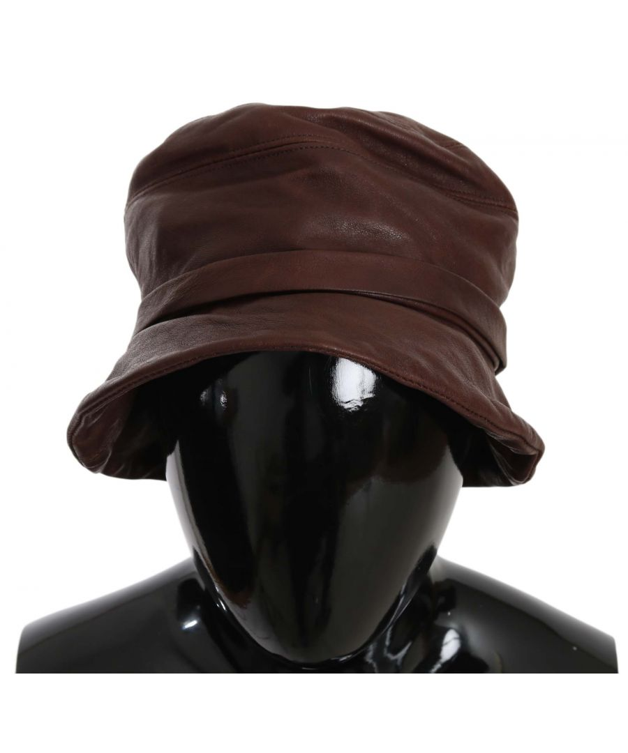 Image for Dolce & Gabbana Plain Brown Sheep Leather Bucket Hat