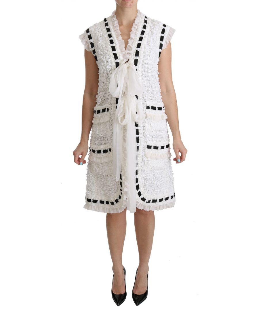 Image for Costume National White Printed Bandana Cotton Scarf