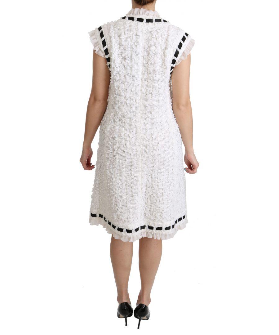 Image for Dolce & Gabbana Schwarze Weste Formale Schurwollweste
