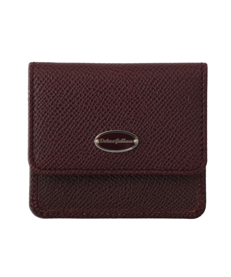 Image for Dolce & Gabbana Bordeaux Dauphine Leather Pocket Case