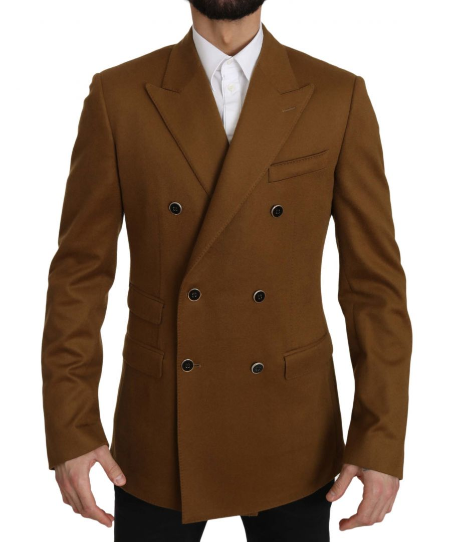 Image for Dolce & Gabbana Brown Cashmere TAORMINA Coat Blazer