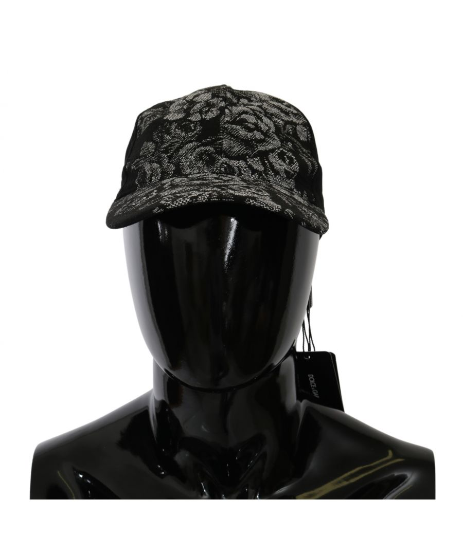 Image for Dolce & Gabbana Black Floral Brocade Baseball Cotton  Cap
