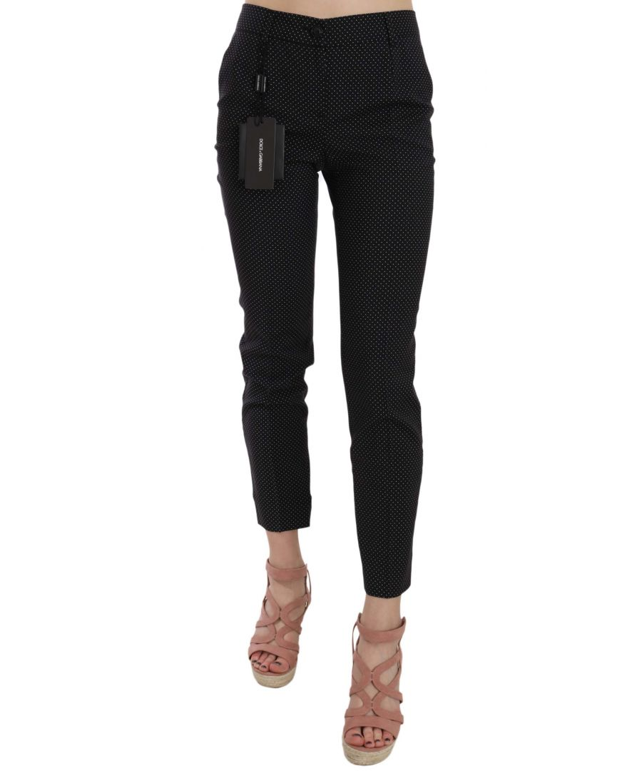 Image for Dolce & Gabbana Polka Dot Slim Capri Trousers Tapered Pants