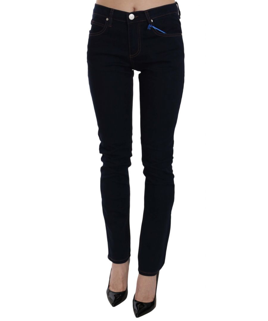 Image for Versace Jeans Slim Fit Stretch Cotton Denim Pants