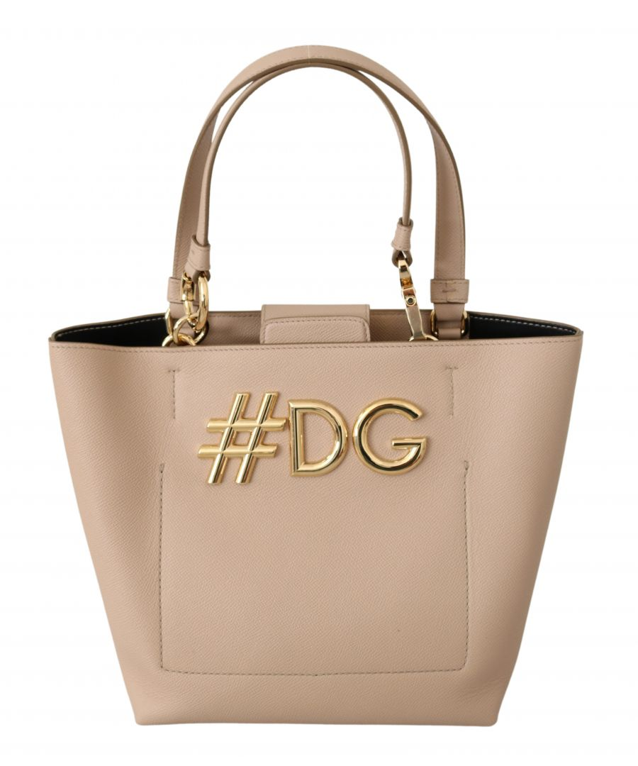Image for Dolce & Gabbana Pink Leather Hand Tote Shopping Purse