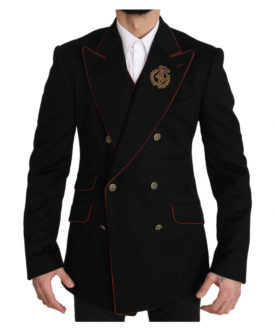 Image for Dolce & Gabbana Black DG Cashmere SICILIA Vest Blazer