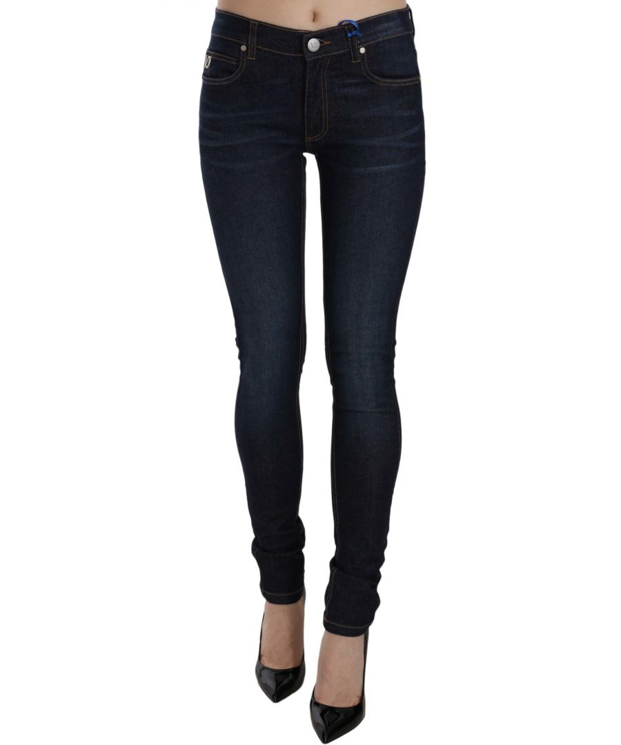 Image for Versace Jeans Blue Stretch Denim Cotton Skinny Fit Pant