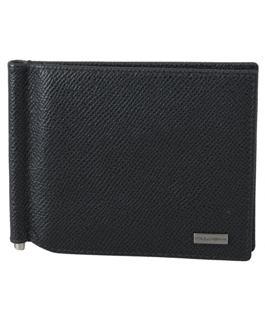 Image for Dolce & Gabbana Gray Leather Bifold Mens Card Holder Leather Wallet