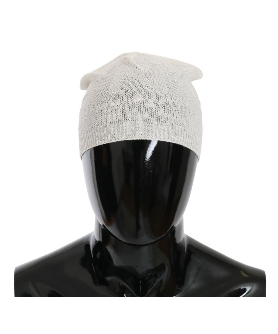 Image for Dolce & Gabbana Beanie White Wool Blend Branded Hat